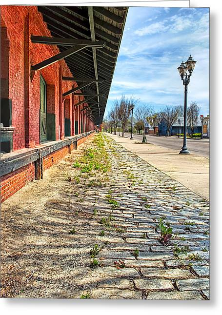 Reynolds Street View - Southern Railway Depot In Augusta Greeting Card
