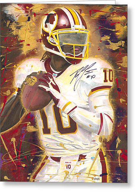 RG3 Greeting Card by Jeff Gomez