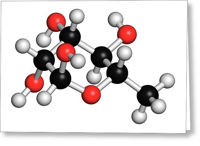 Rhamnose Sugar Molecule Greeting Card
