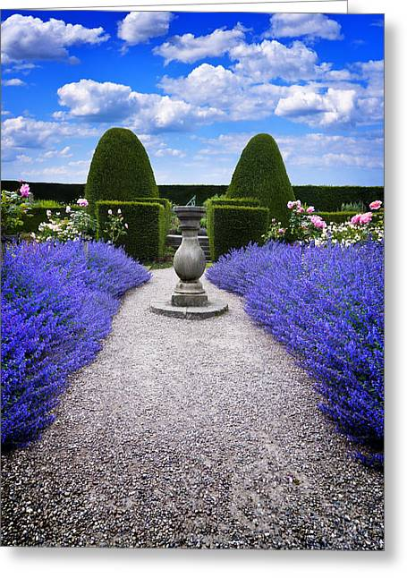 Rhapsody In Blue Greeting Card by Meirion Matthias