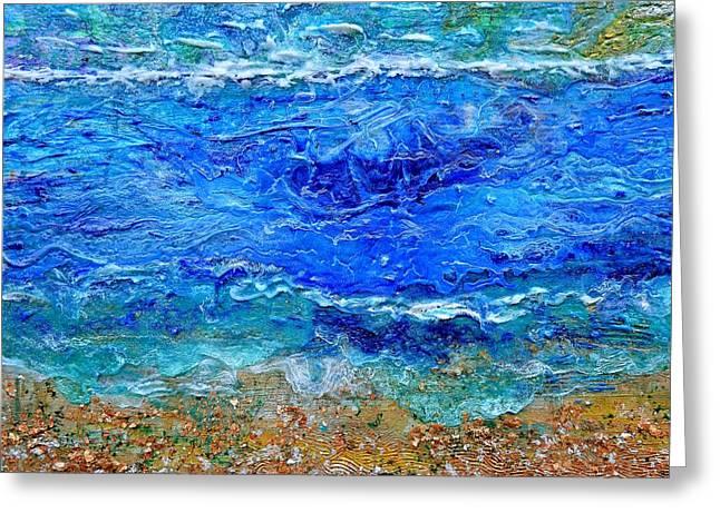 Rhapsody On The Sea Square Crop Greeting Card by Regina Valluzzi