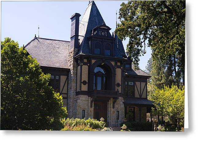Rhine House At Beringer Winery St Helena Napa California Dsc1719 Square Greeting Card