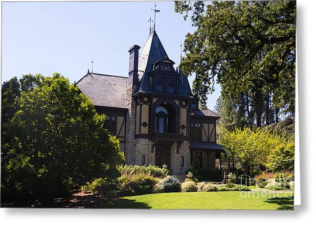 Rhine House At Beringer Winery St Helena Napa California Dsc1719 Greeting Card