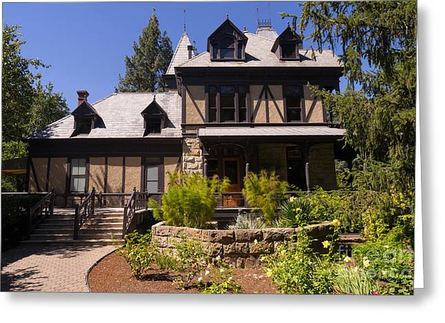 Rhine House At Beringer Winery St Helena Napa California Dsc1724 Greeting Card