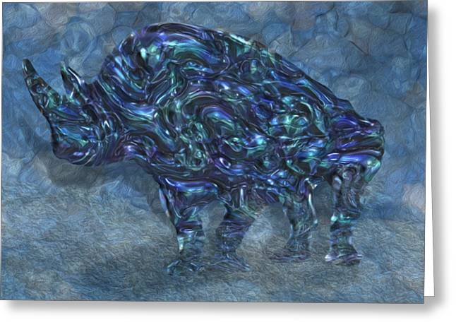 Rhino 6 Greeting Card by Jack Zulli
