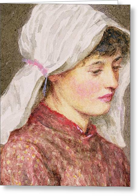 Rhoda Greeting Card by Helen Allingham