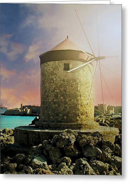 Rhodes Greeting Card by Diana Angstadt