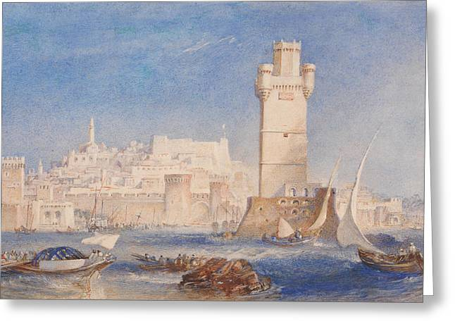 Rhodes Greeting Card by Joseph Mallord William Turner