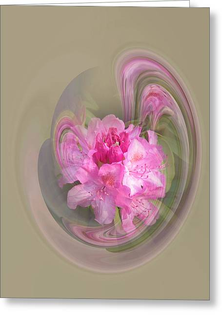 Rhododendron Awakening Greeting Card