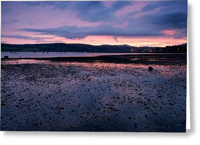Rhu Marina Sundown Greeting Card