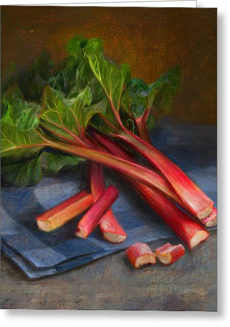 Rhubarb Greeting Card by Robert Papp