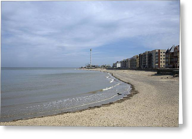 Rhyl Beach Greeting Card by Christopher Rowlands