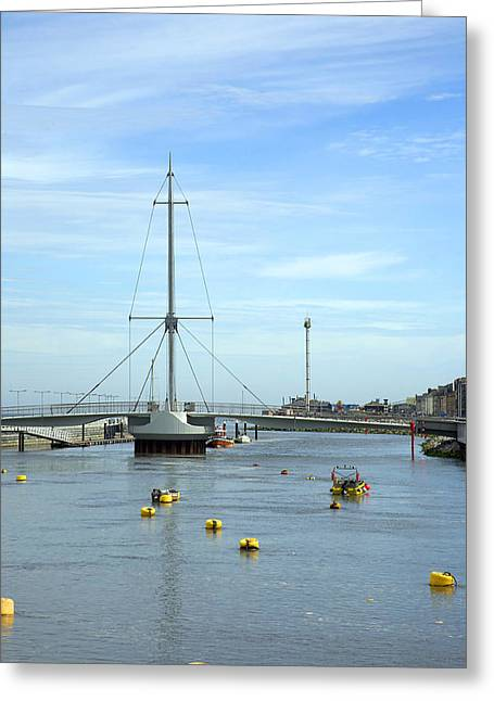 Rhyl Harbour Greeting Card by Christopher Rowlands