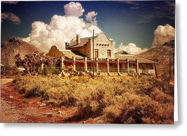 Rhyolite Station Greeting Card by Steve Benefiel