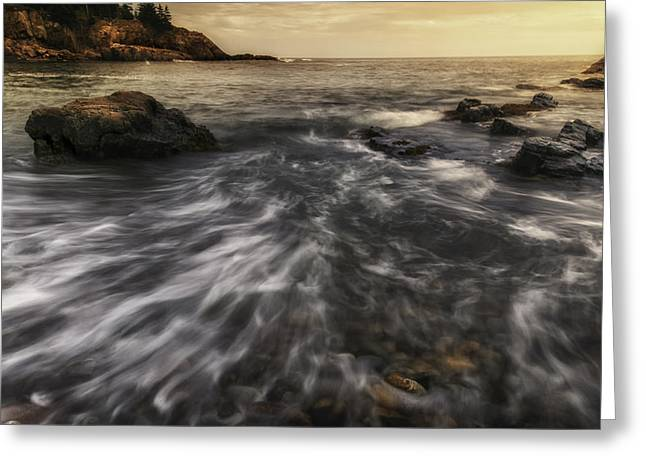 Rhythm Of The Surf - Little Hunters Beach Greeting Card by Thomas Schoeller