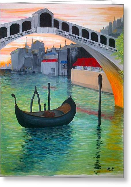 Rialto Greeting Card by Andrew Cravello