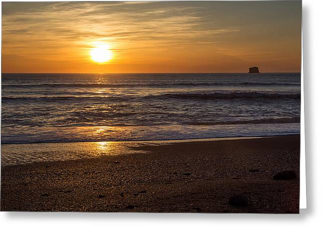 Rialto Beach Sunset Greeting Card by Pierre Leclerc Photography