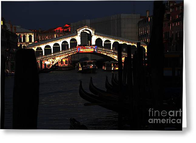 Rialto Bridge Appeal Greeting Card by Jacqueline M Lewis