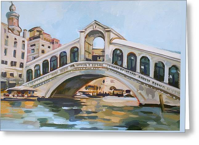 Rialto Bridge Greeting Card by Filip Mihail