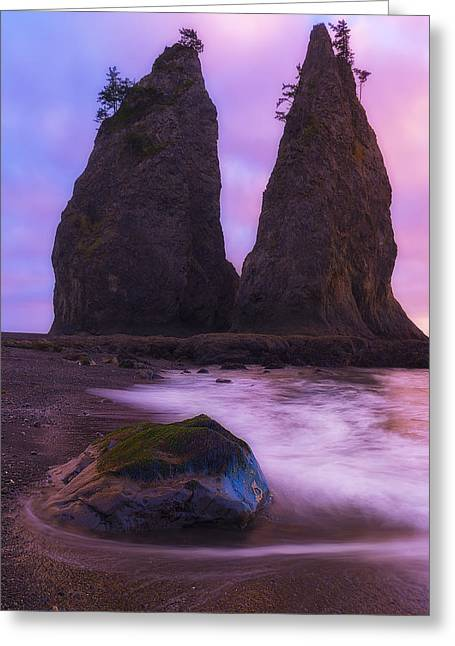 Rialto Monoliths Greeting Card by Ryan Manuel