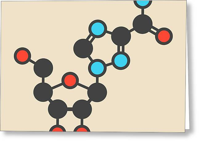 Ribavirin Antiviral Drug Molecule Greeting Card by Molekuul
