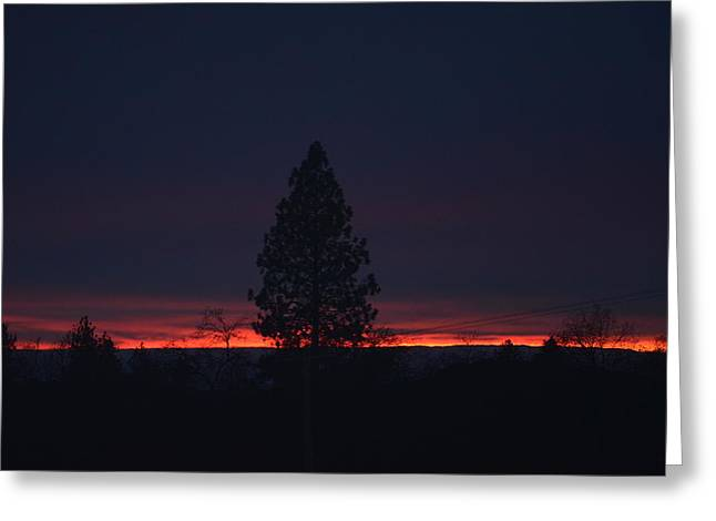 Ribbon Of Sunset Greeting Card