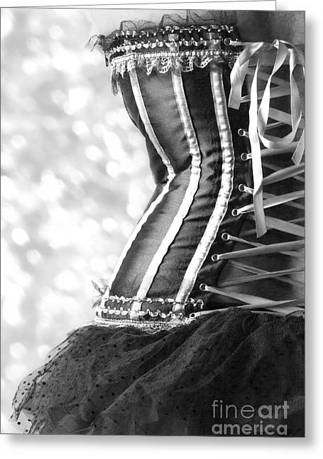 Ribbons And Lace Greeting Card by Linda Lees