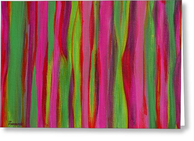 Ribbons Greeting Card by Donna  Manaraze