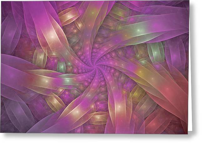 Ribbons Greeting Card by Sandy Keeton