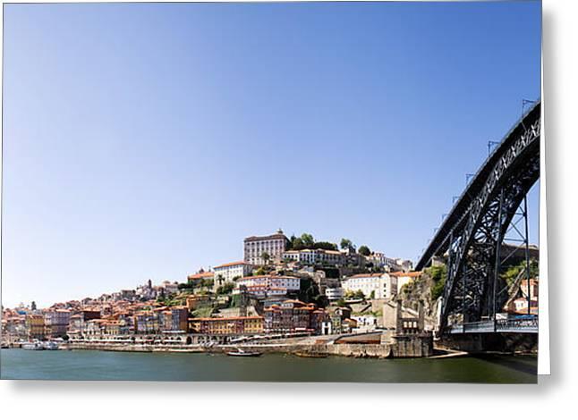 Ribeira Quarter And Dom Luis Bridge In Porto Greeting Card
