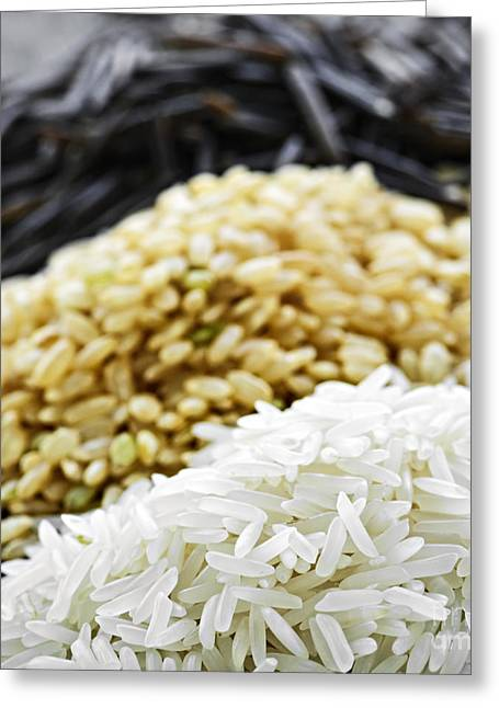 Rice Colors Greeting Card by Elena Elisseeva