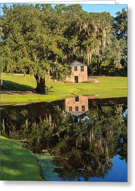 Rice Mill  Pond Reflection Greeting Card by Patricia Schaefer