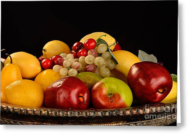 Rich Bowl Of Fruit Greeting Card by Timothy OLeary