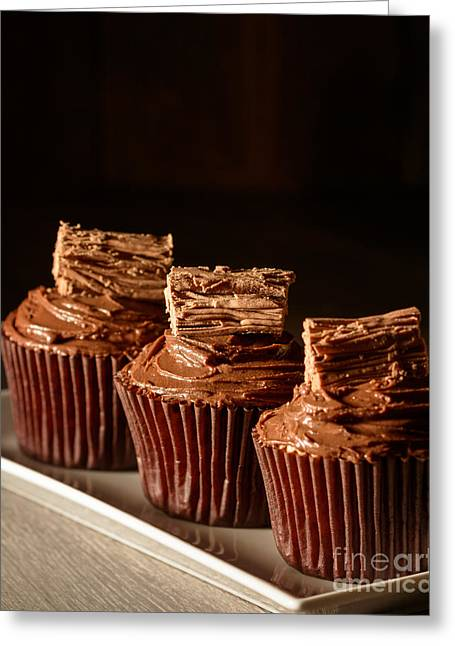 Rich Chocolate Cakes Greeting Card by Amanda Elwell