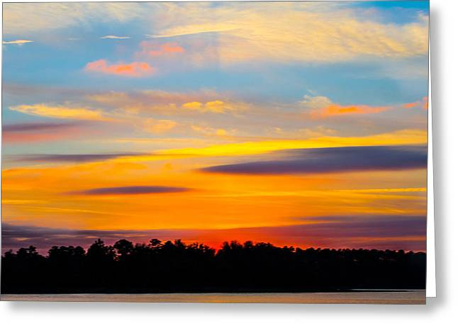 Rich Colors At Sunset Greeting Card