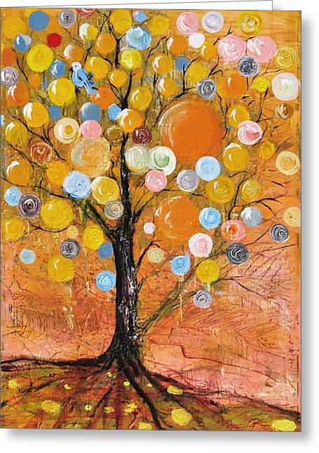 Rich Tree Greeting Card by Evelina Popilian