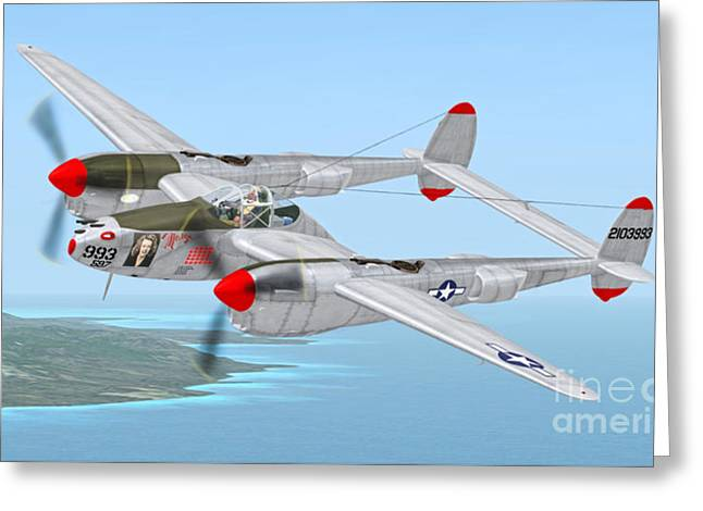 Richard Bong's P-38 Lightning Marge Greeting Card