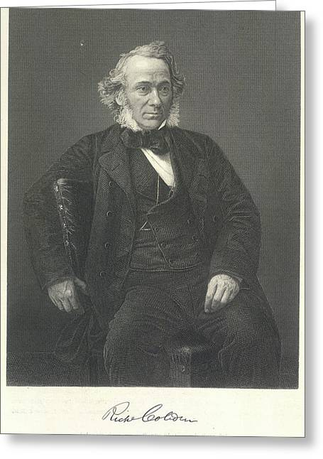 Richard Cobden Greeting Card by British Library