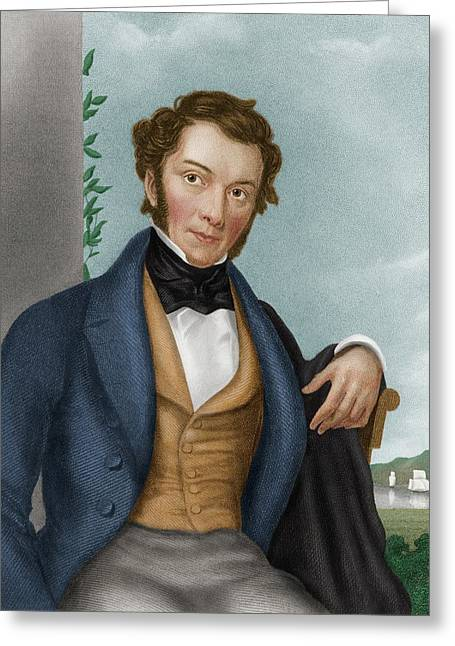 Richard Cobden Greeting Card by Maria Platt-evans