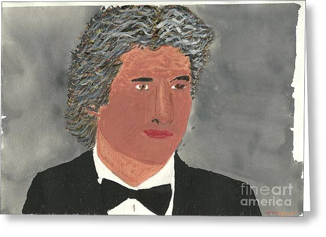 Greeting Card featuring the painting Richard Gere by Tracey Williams