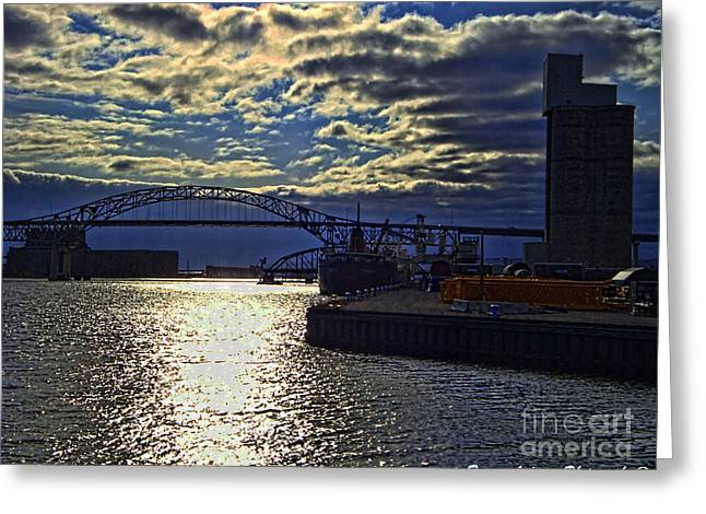 Richard I Bong Memorial Bridge Greeting Card by Tommy Anderson