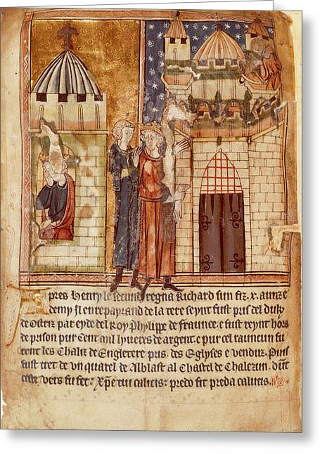 Richard I Imprisoned And Ransomed Greeting Card