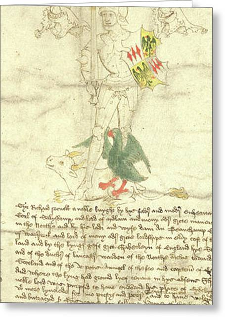 Richard Neville Greeting Card by British Library