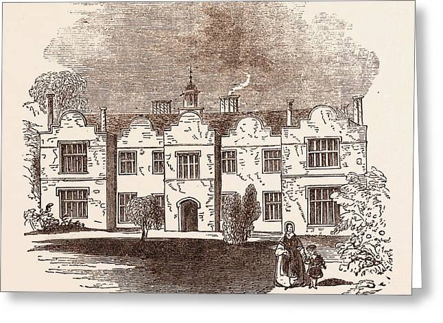 Richard Reynell, Ford House, Newton Abbot, A Market Town Greeting Card by English School