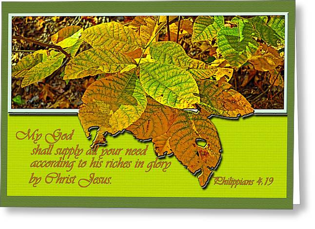Riches Greeting Card by Larry Bishop