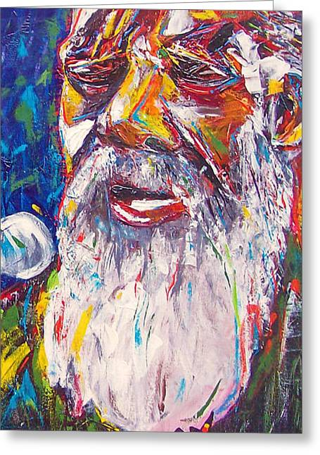Richie Havens - Freedom Greeting Card by Valerie Wolf