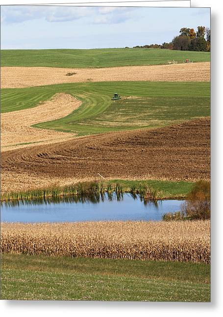 Richland Farmscape Greeting Card by David Yunker