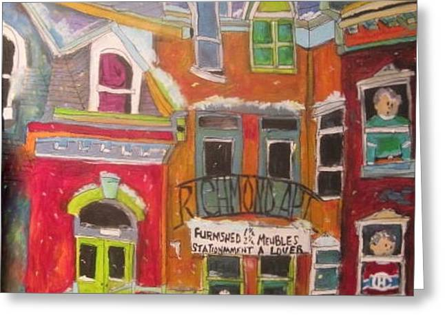 Richmond Apt.montreal Memories Greeting Card by Michael Litvack