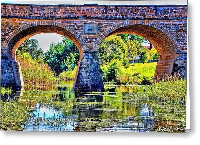 Greeting Card featuring the photograph Richmond Bridge by Wallaroo Images