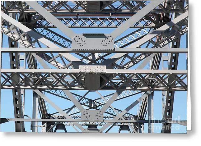 Richmond-san Rafael Bridge In California - 5d21452 Greeting Card by Wingsdomain Art and Photography